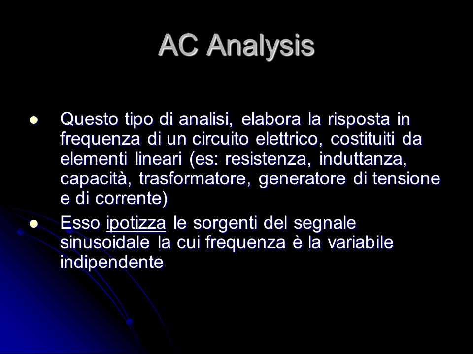 AC Analysis