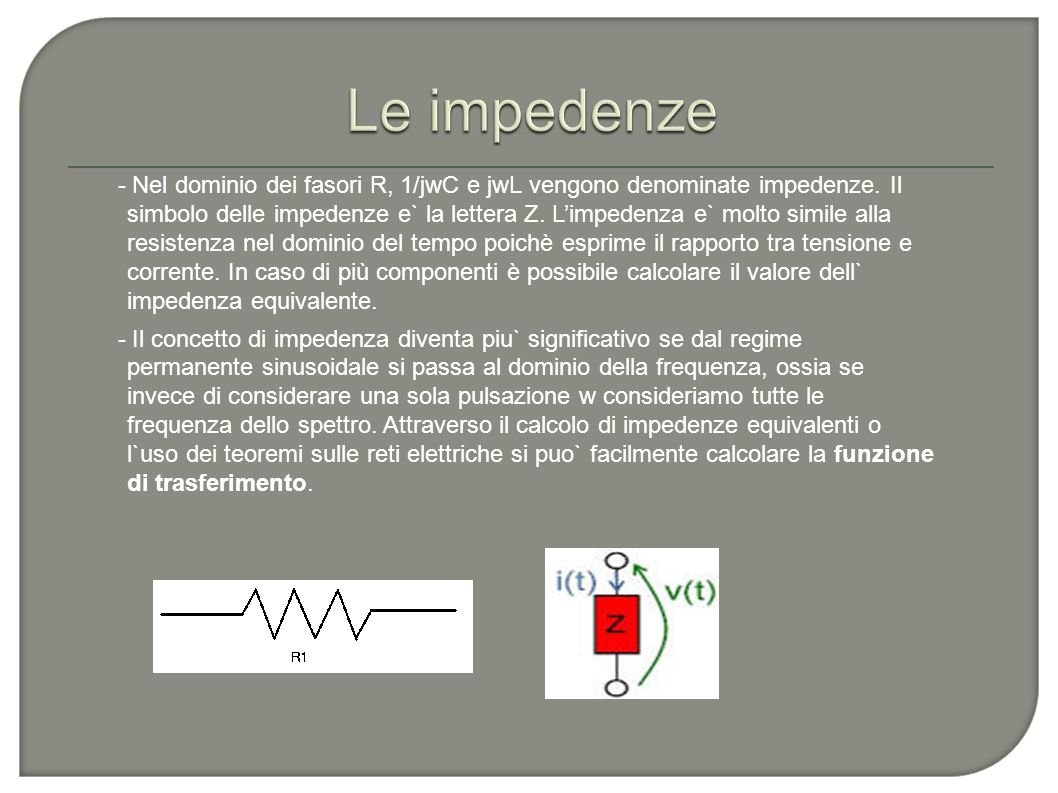 Le impedenze