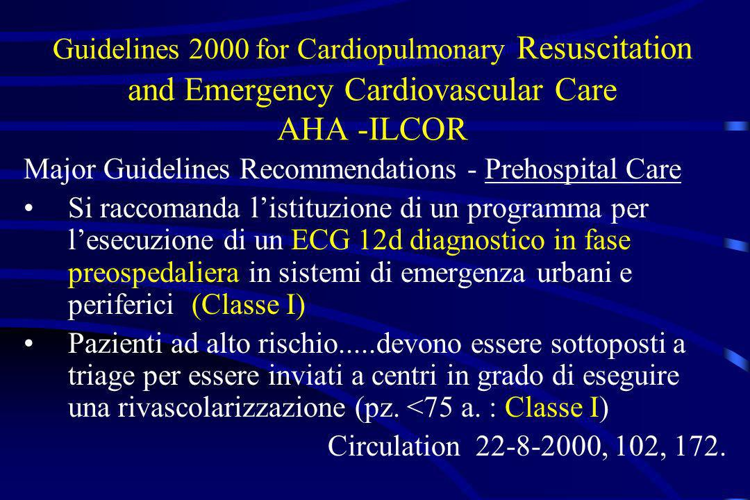 Guidelines 2000 for Cardiopulmonary Resuscitation and Emergency Cardiovascular Care AHA -ILCOR