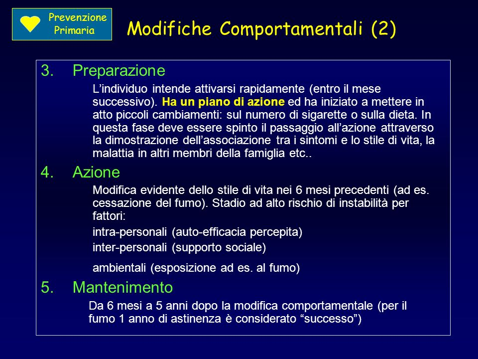 Modifiche Comportamentali (2)