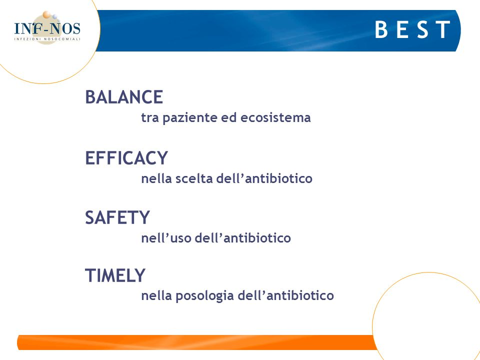 B E S T BALANCE EFFICACY SAFETY TIMELY tra paziente ed ecosistema