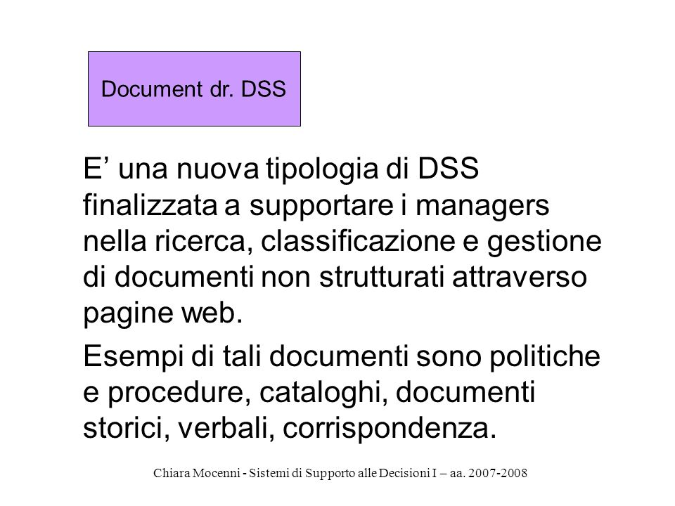 Document dr. DSS