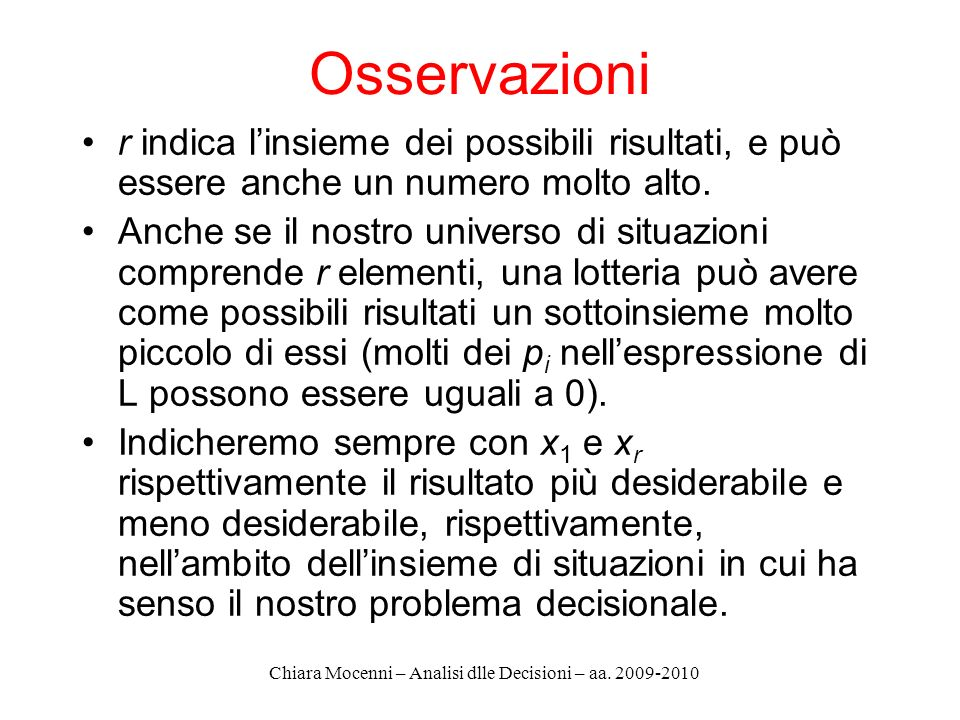 Chiara Mocenni – Analisi dlle Decisioni – aa