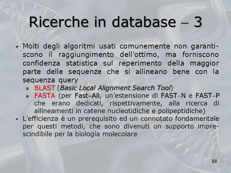 Ricerche in database  3