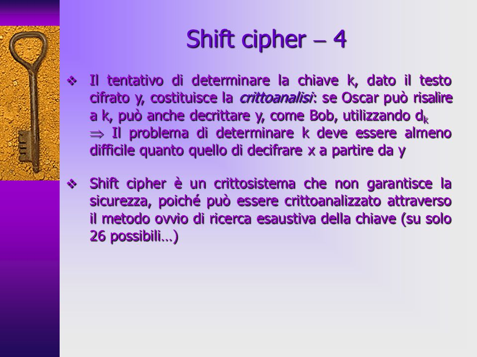Shift cipher  4