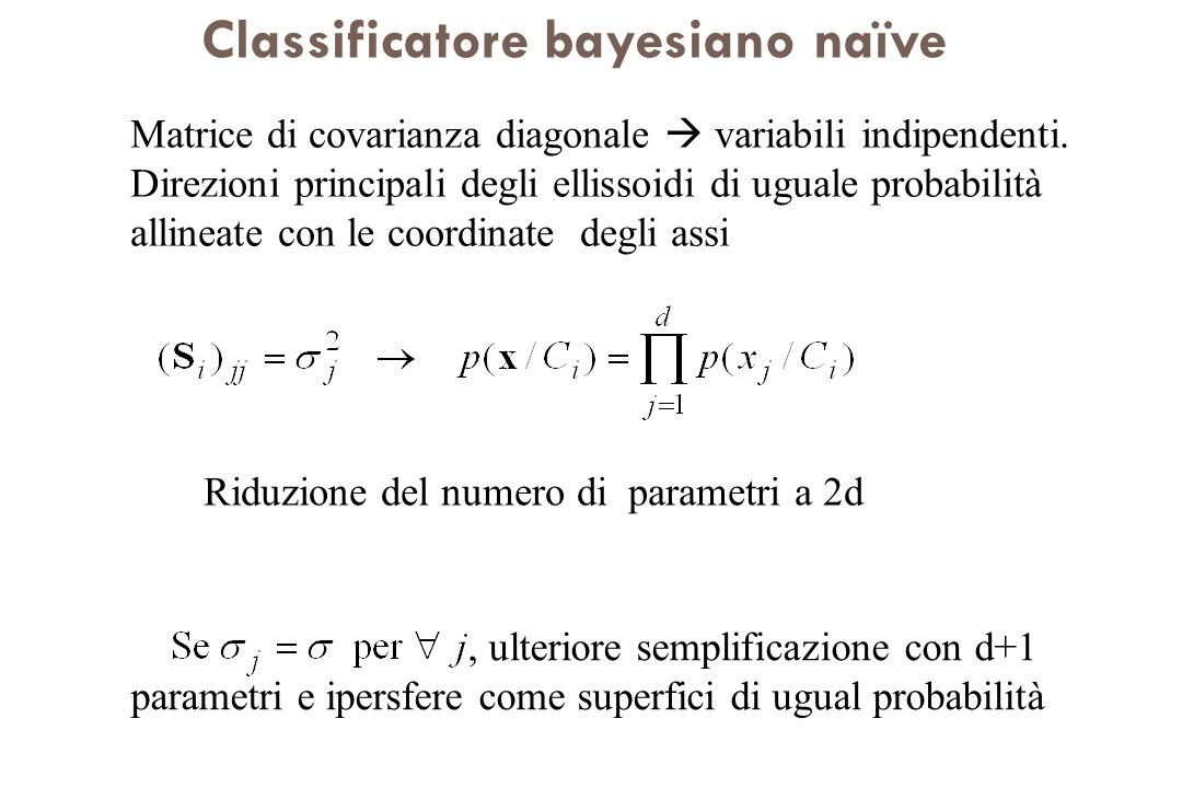 Classificatore bayesiano naïve