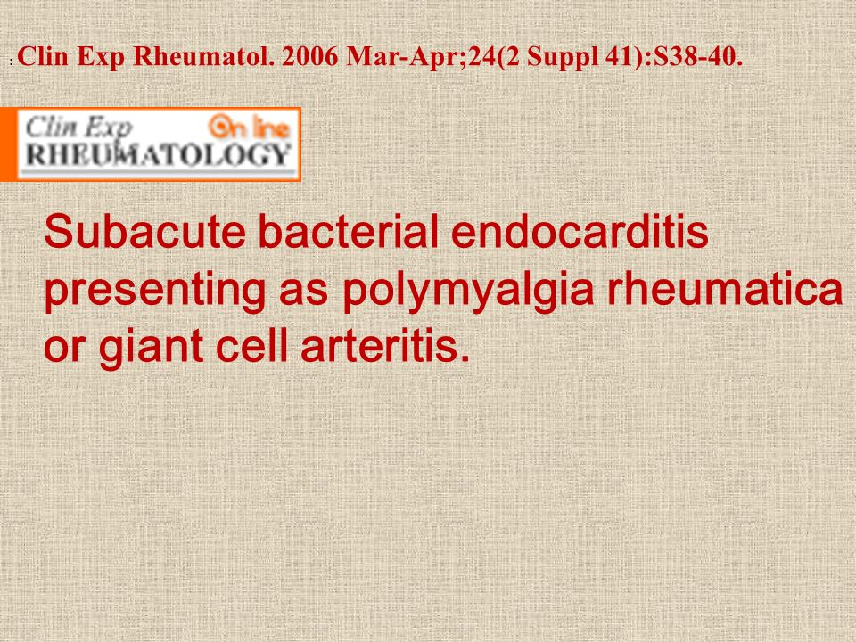 : Clin Exp Rheumatol. 2006 Mar-Apr;24(2 Suppl 41):S38-40.