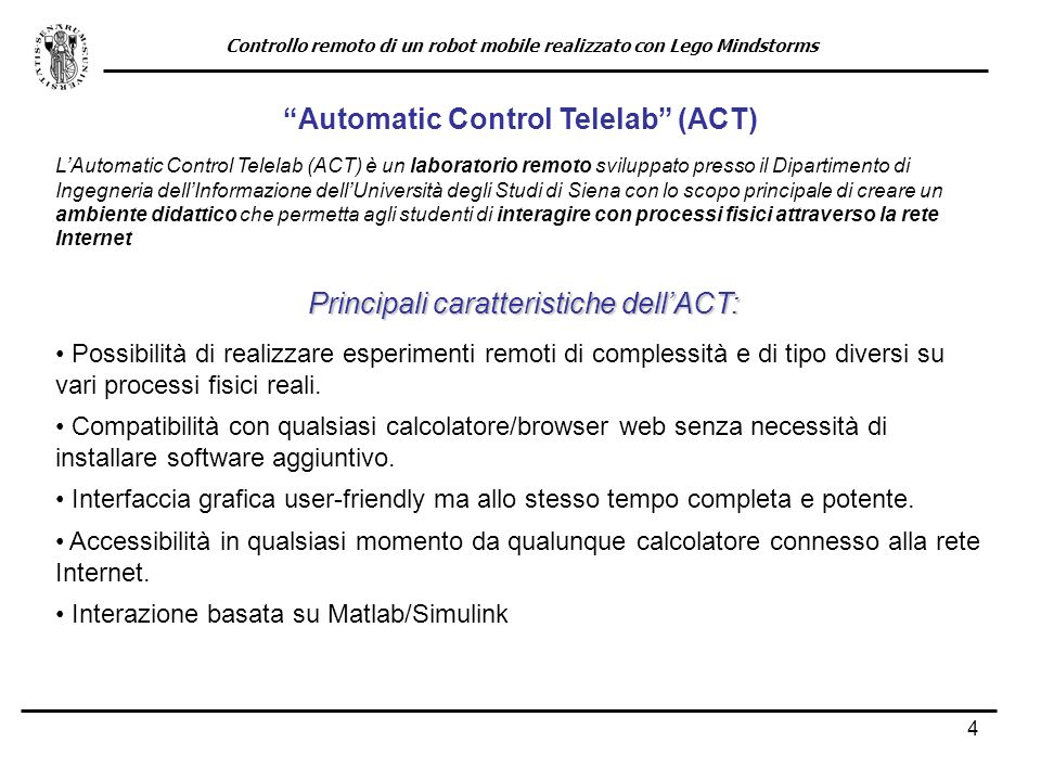 Automatic Control Telelab (ACT)