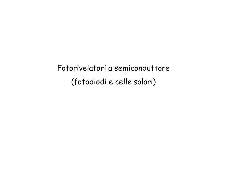 Fotorivelatori a semiconduttore (fotodiodi e celle solari)
