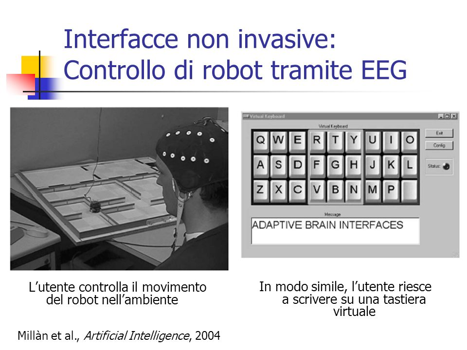 Interfacce non invasive: Controllo di robot tramite EEG