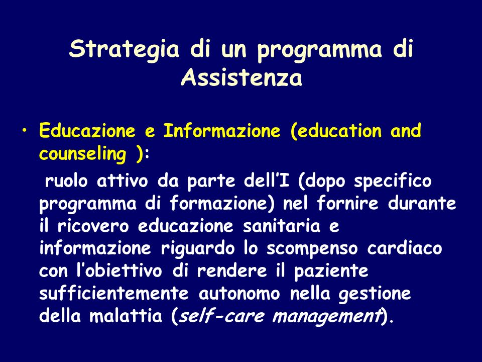 Strategia di un programma di Assistenza