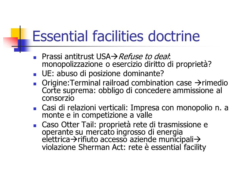 Essential facilities doctrine