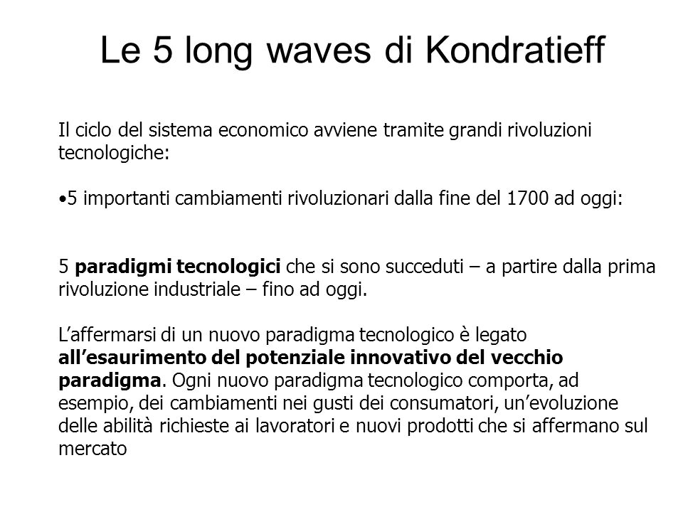 Le 5 long waves di Kondratieff