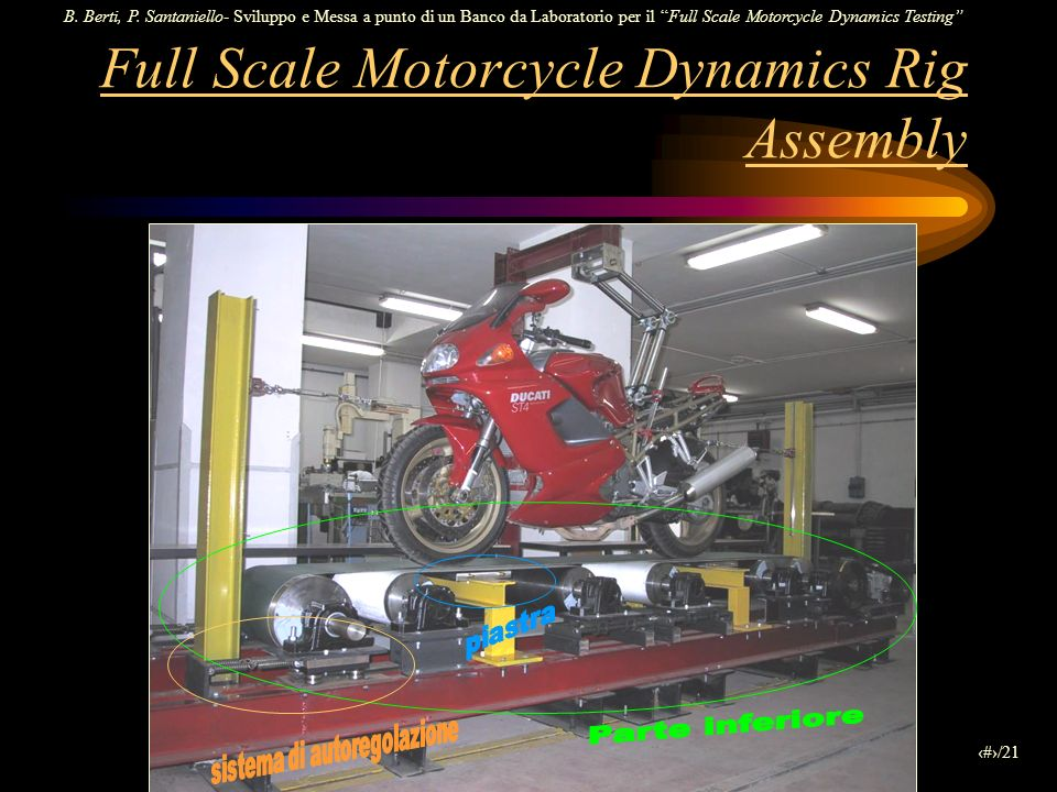 Full Scale Motorcycle Dynamics Rig Assembly