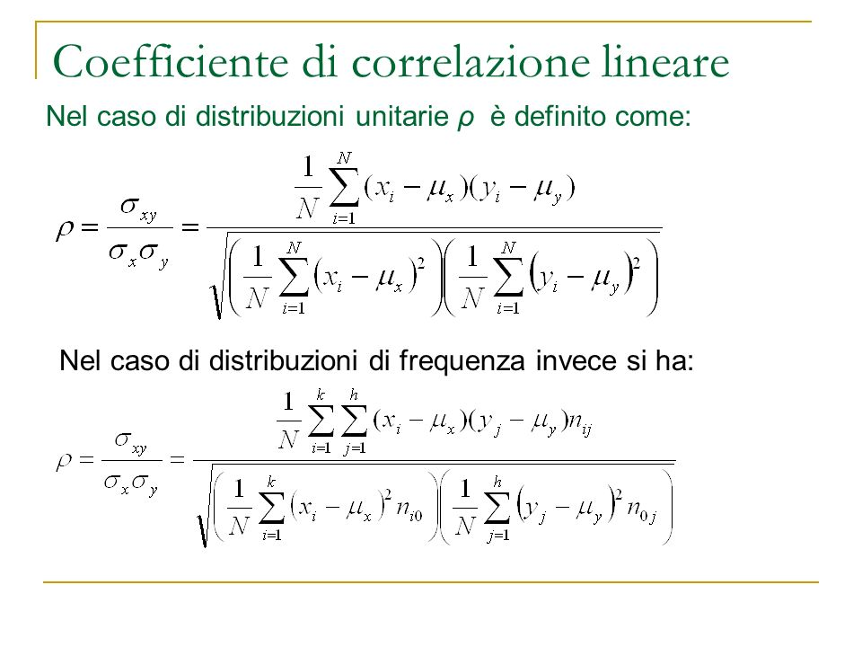 Coefficiente di correlazione lineare
