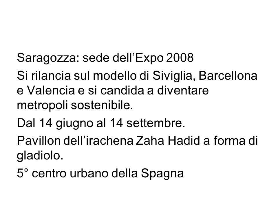 Saragozza: sede dell'Expo 2008