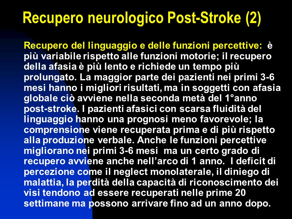 Recupero neurologico Post-Stroke (2)