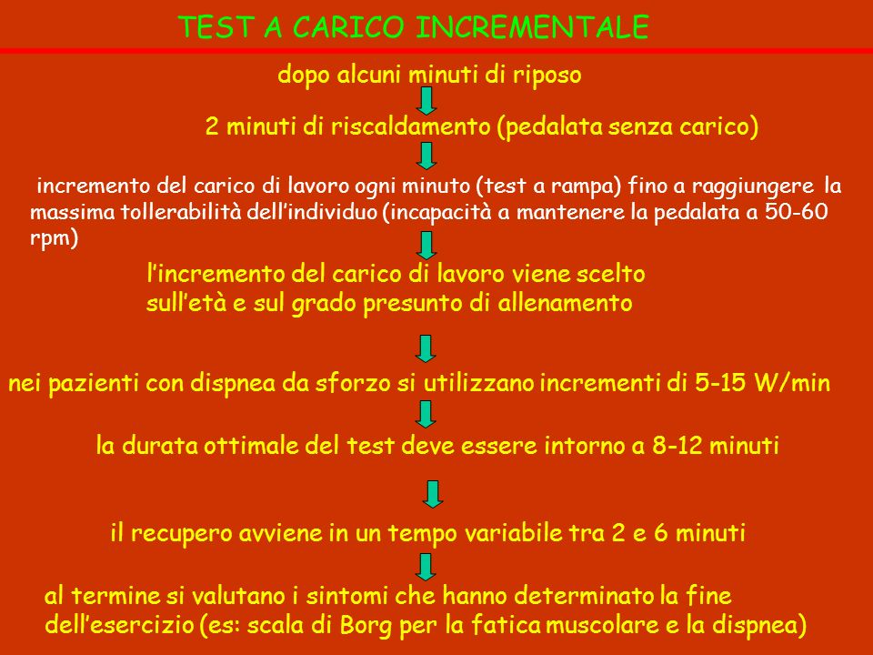 TEST A CARICO INCREMENTALE