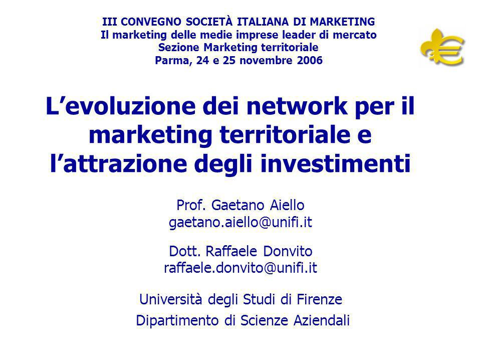 Sezione Marketing territoriale