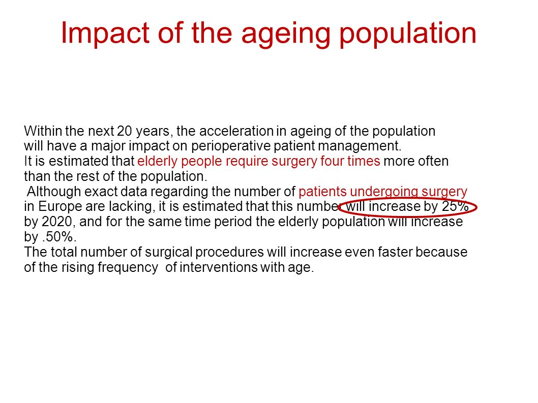 Impact of the ageing population