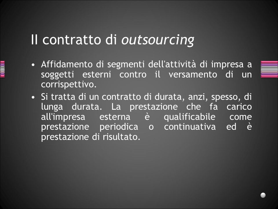 II contratto di outsourcing