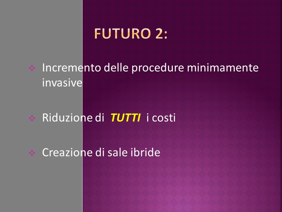 Incremento delle procedure minimamente invasive