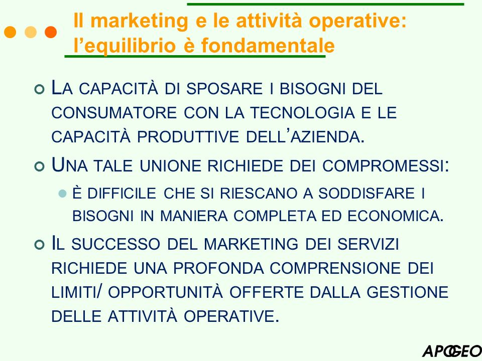 Il marketing e le attività operative: l'equilibrio è fondamentale