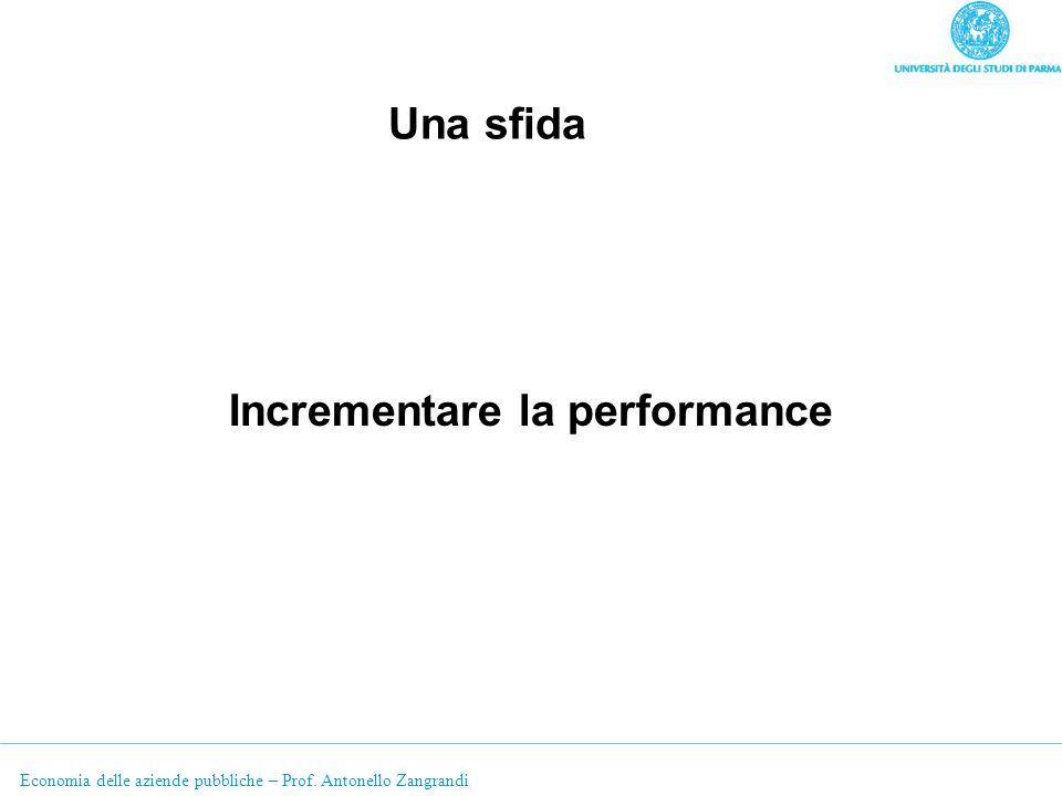 Incrementare la performance
