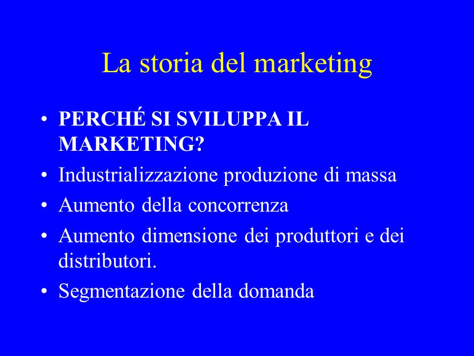 La storia del marketing
