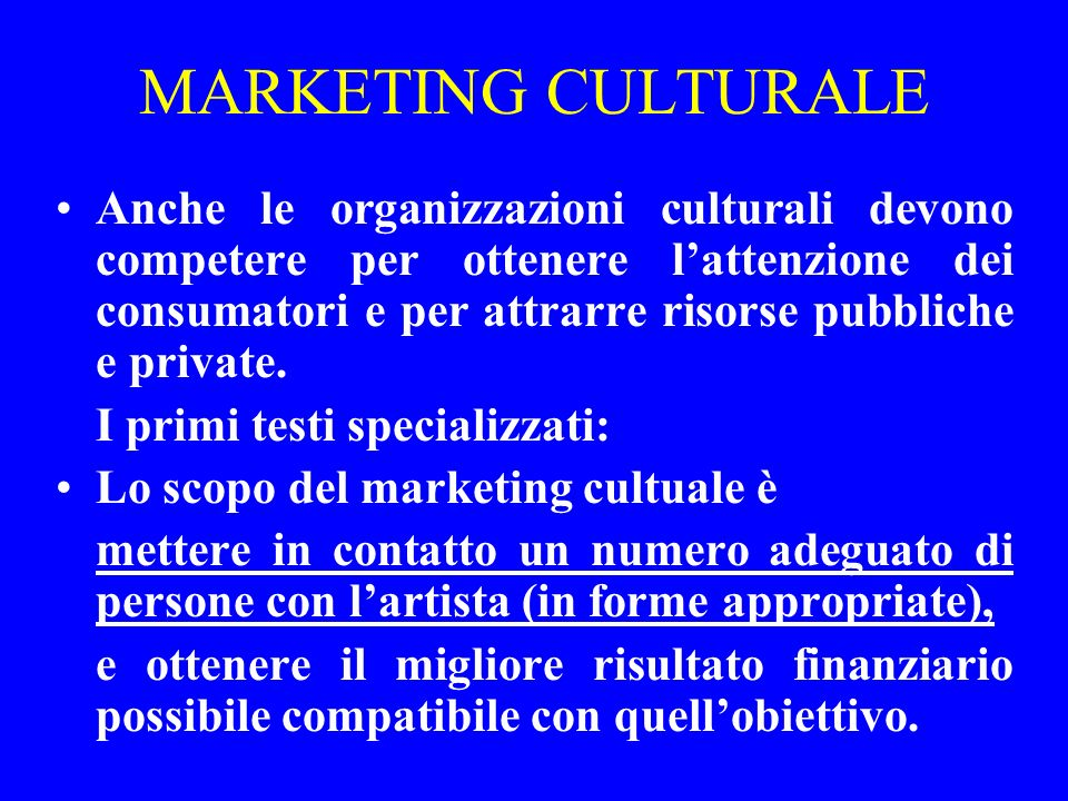 MARKETING CULTURALE