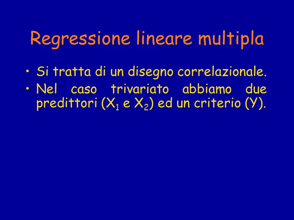 Regressione lineare multipla