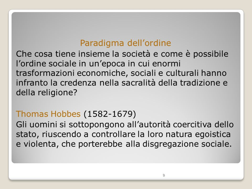 Paradigma dell'ordine