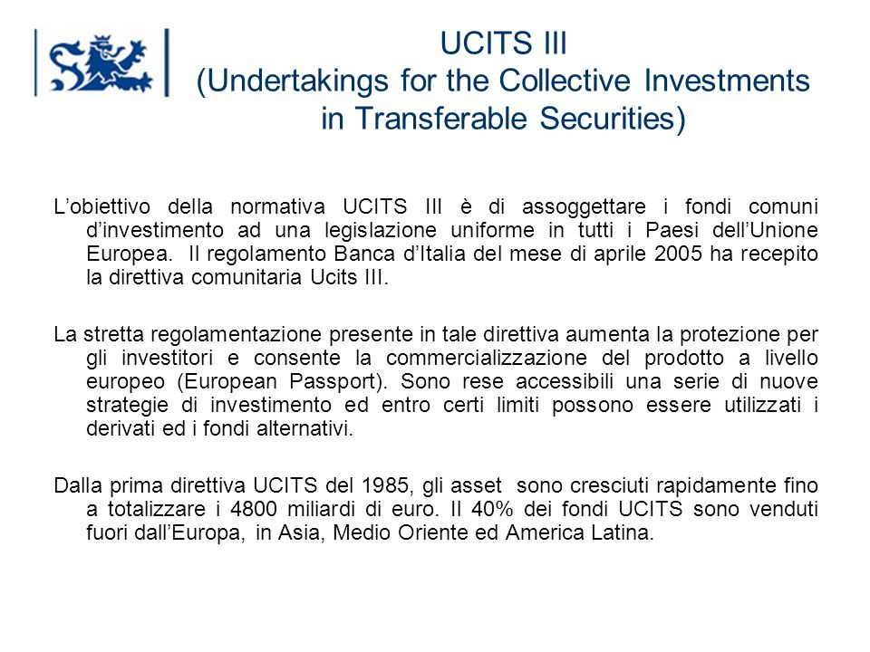 UCITS III (Undertakings for the Collective Investments in Transferable Securities)