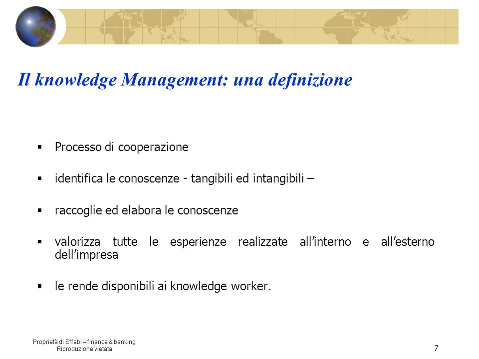 Il knowledge Management: una definizione