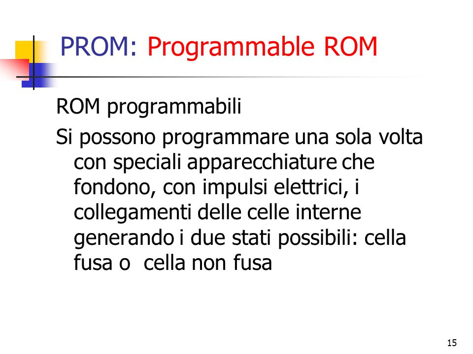 PROM: Programmable ROM