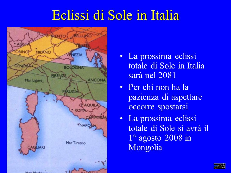 Eclissi di Sole in Italia