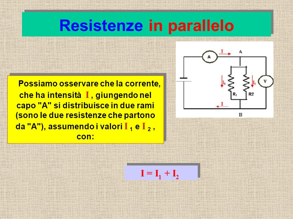 Resistenze in parallelo