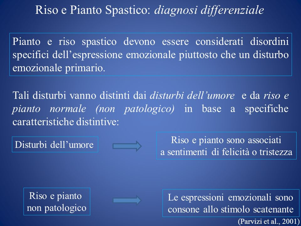 Riso e Pianto Spastico: diagnosi differenziale