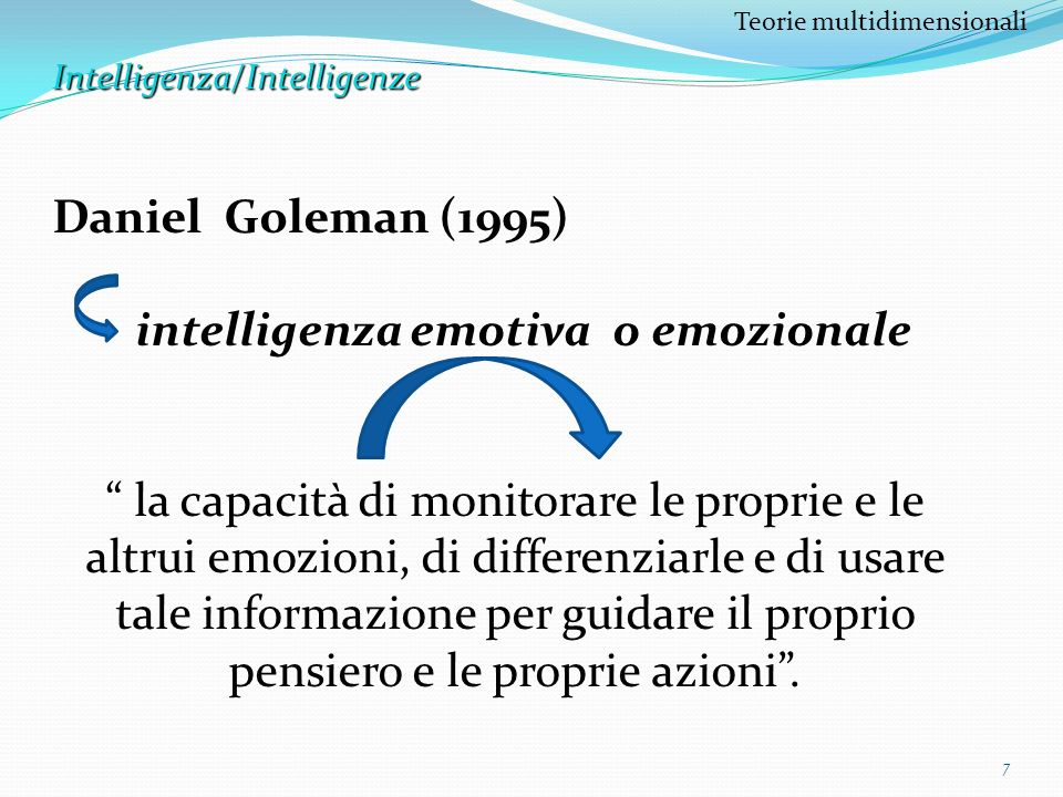 intelligenza emotiva o emozionale