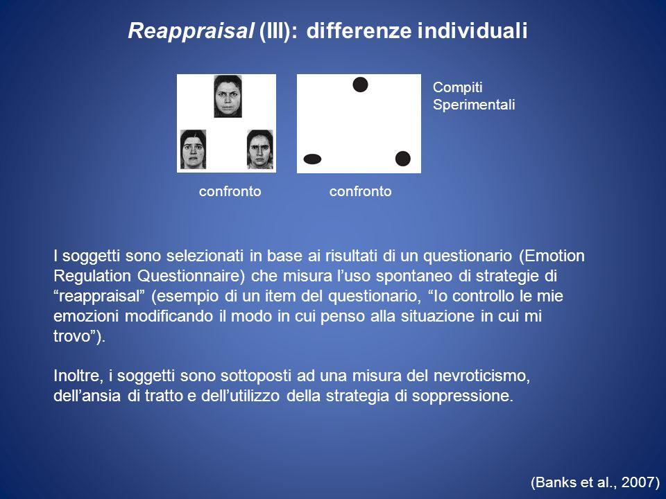 Reappraisal (III): differenze individuali