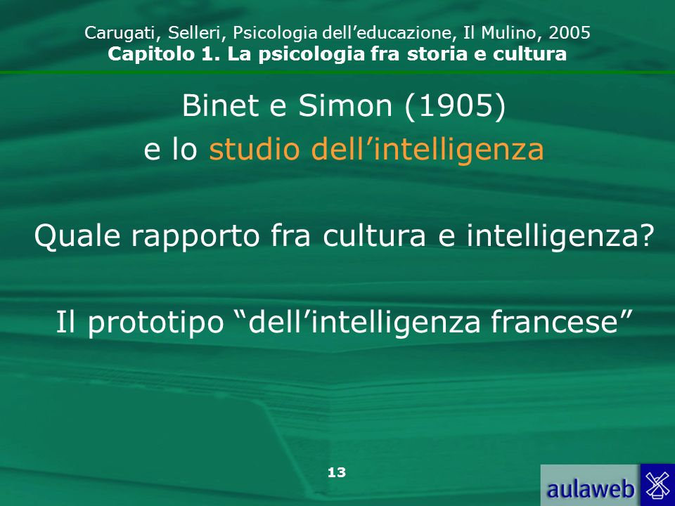 e lo studio dell'intelligenza