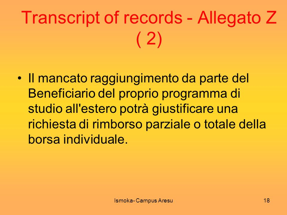 Transcript of records - Allegato Z ( 2)