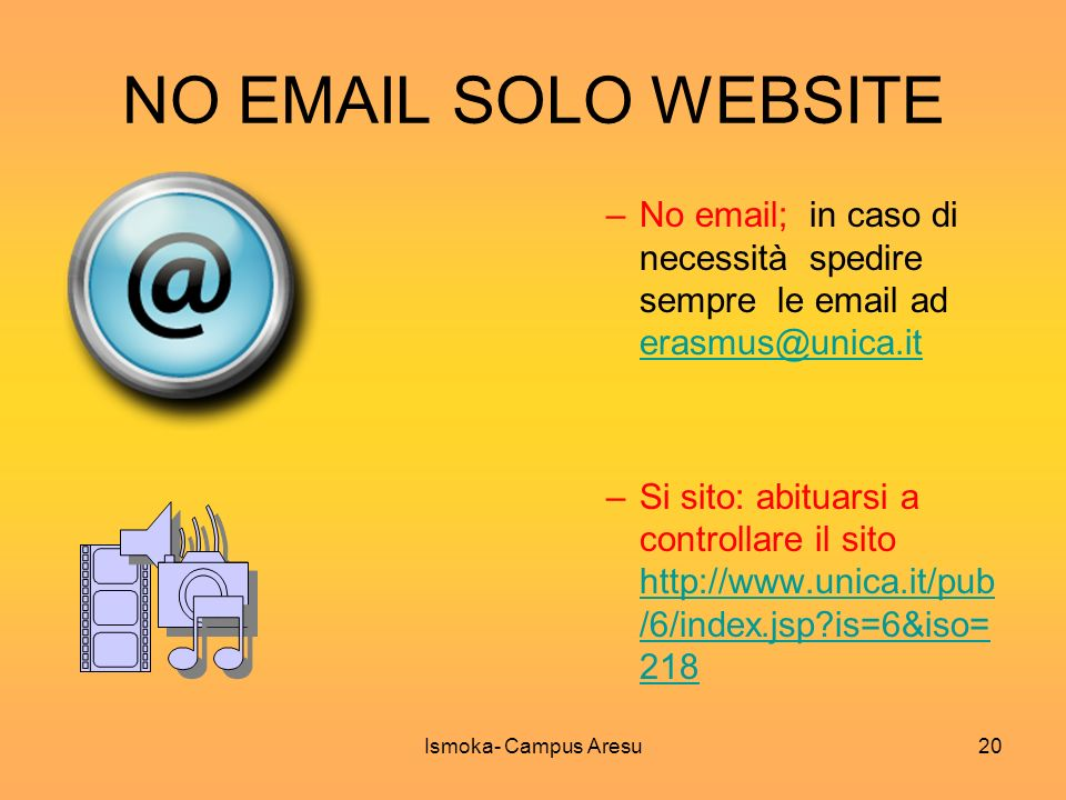 NO  SOLO WEBSITE No  ; in caso di necessità spedire sempre le  ad