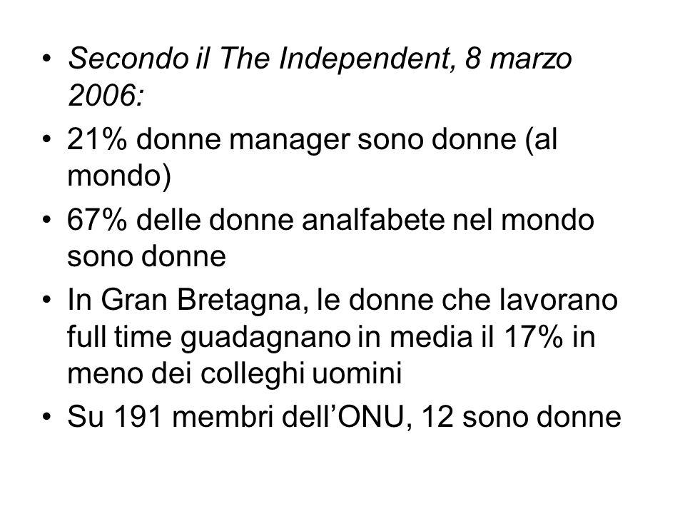 Secondo il The Independent, 8 marzo 2006: