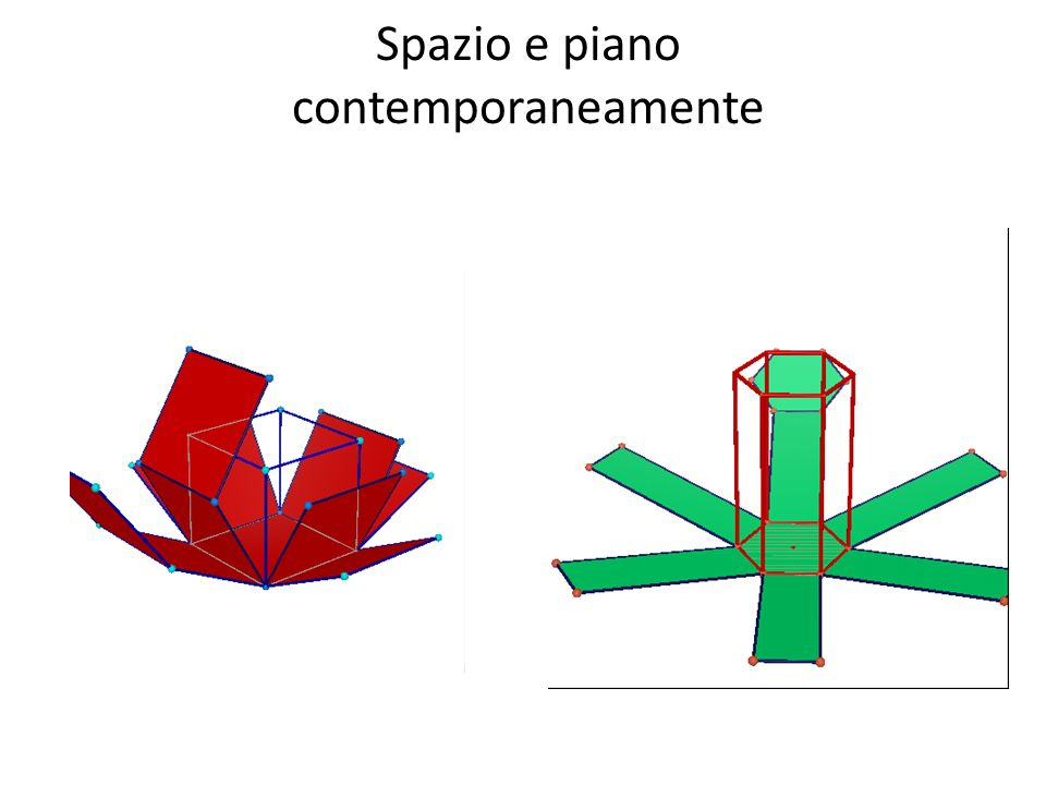 Spazio e piano contemporaneamente