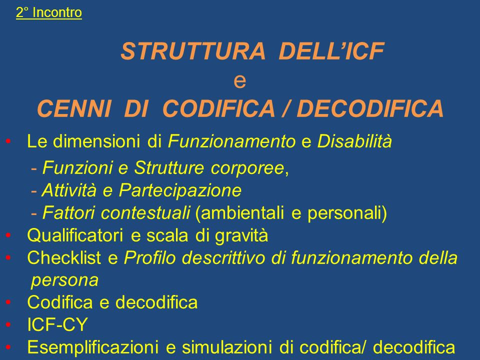 CENNI DI CODIFICA / DECODIFICA