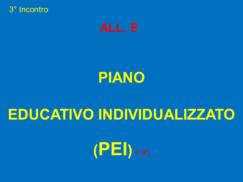EDUCATIVO INDIVIDUALIZZATO