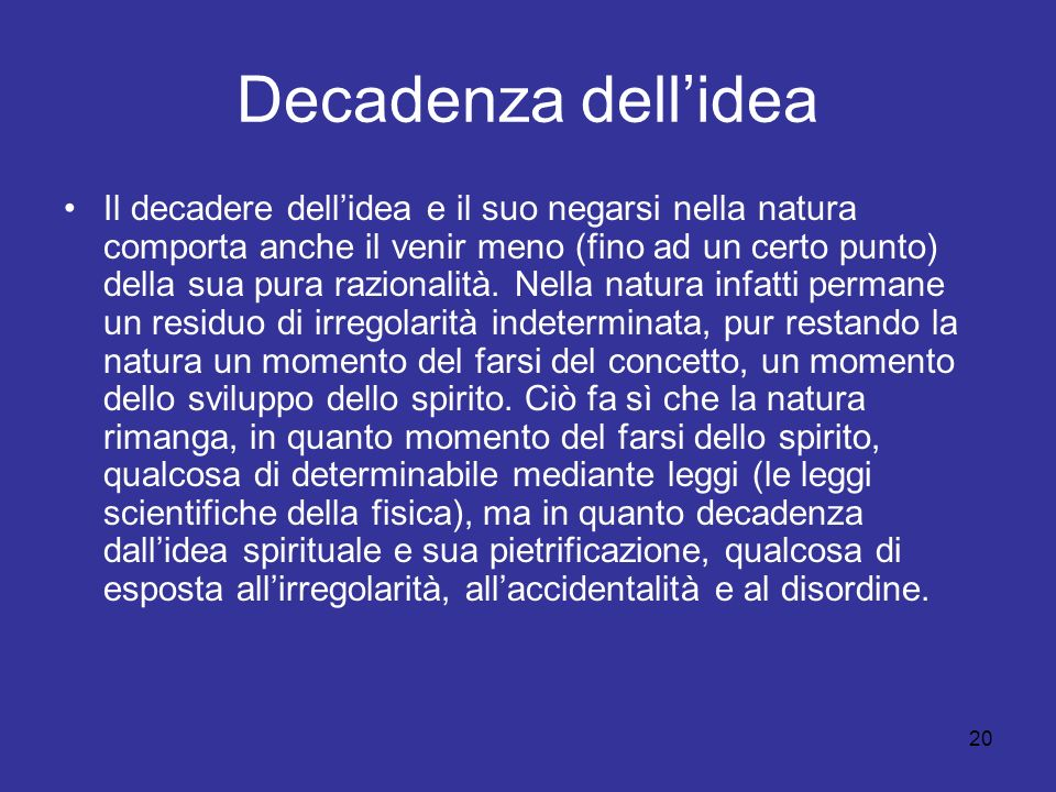 Decadenza dell'idea