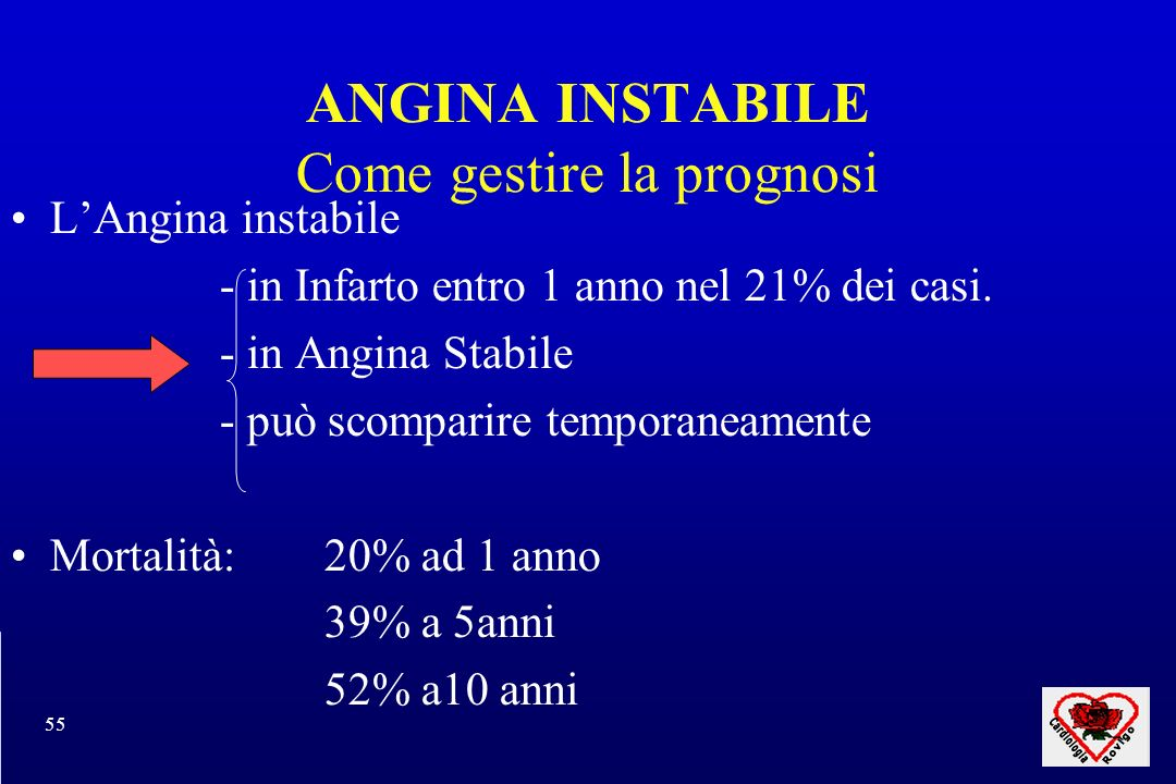 ANGINA INSTABILE Come gestire la prognosi