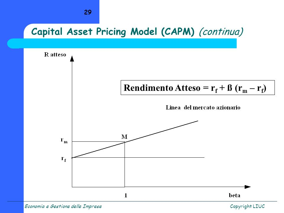 Capital Asset Pricing Model (CAPM) (continua)